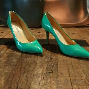 Gianmarco Lorenzi green heel. Lightly used